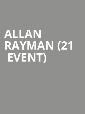Allan Rayman (21+ Event) at The Urban Lounge